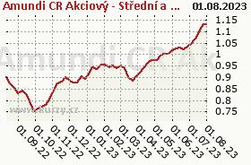 Graf kurzu (ČOJ/PL) Amundi CR Akcie Střed východ Evropa